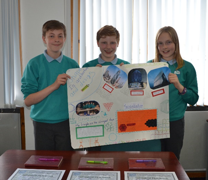 The winners of the Poster Competition, St Mary's